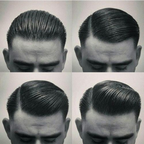 mens retro slick rockabilly hair