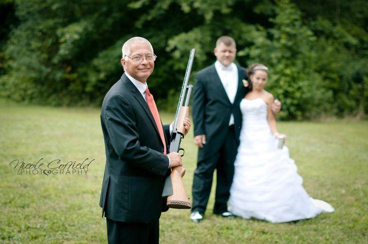 wedding photography - country shotgun fun pose - daddy's girlRedneck Wedding Ideas Shotguns, Definition Gotta, Shotguns Fun, Daddy'S Girls, Country Shotguns, Daddys Girl, Photos Dad And Shotgun, Fun Poses, Engagement Wedding'S Marriage