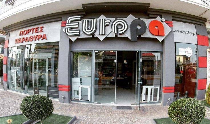 Europa Club Chalkida Mparolas Aluminium Showroom http://alouminia-koufomata.gr