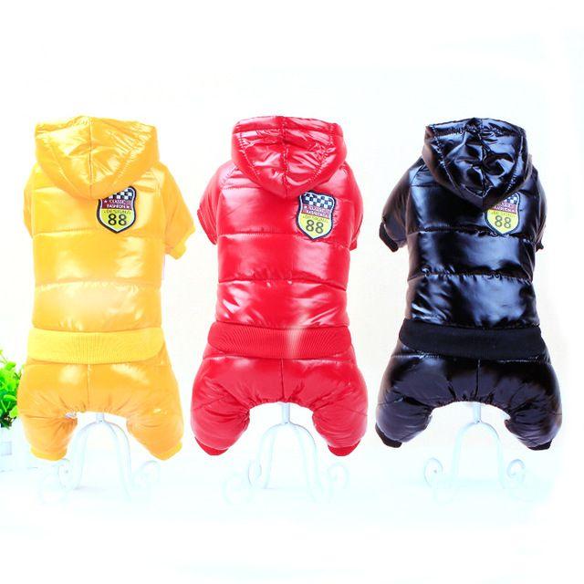 New Fabric Vodotesný Dog bunda Veľká veľkosť psa psa oblečenia Zahusťovanie páperová bunda zimné oblečenie pre domáce zvieratá Psy šaty