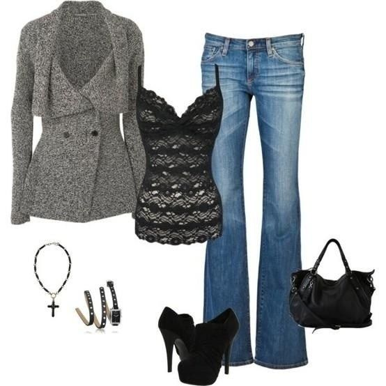 Inspiration look Day to night : I like this slightly risque outfit that works well for transitioning from day to