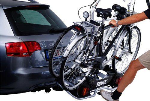 Porte-vélos Thule (même les vélos électriques).-Sur attelage, prise électrique 7 broches.-Basculement facile en charge du porte vélo pour ouvrir le coffre.-Possibilité de mettre 2 vélos. Charge maximum 60 Kgs-Antivol sur l'attelage   sur les fixations de vélo.-Sangles sur chaque roue de vélo- Prévoir une plaque d'immatriculation standard (fixation rapide sans outil)