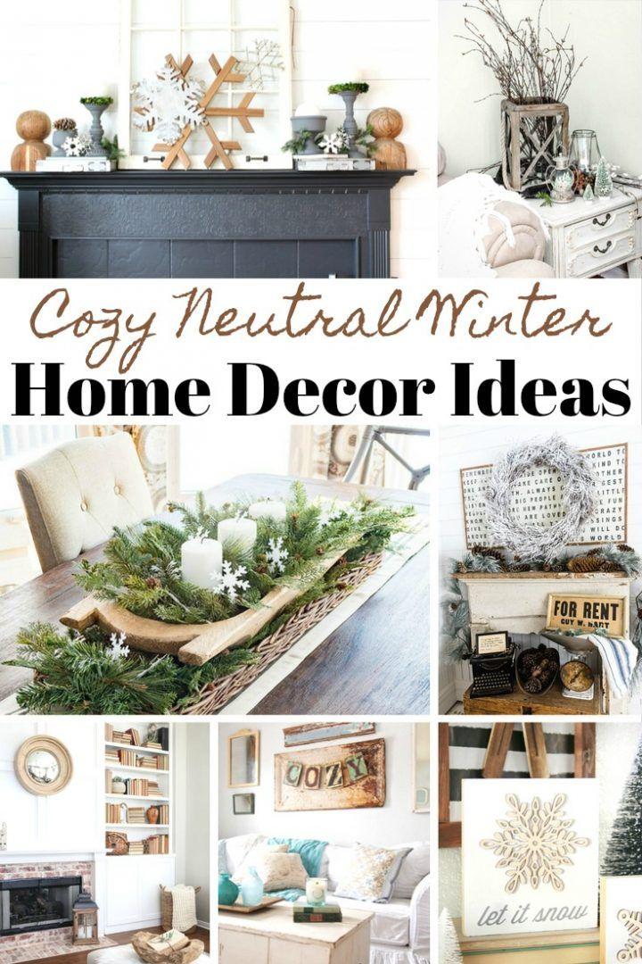 Cozy Neutral Winter Home Decor Ideas House Design Home Design