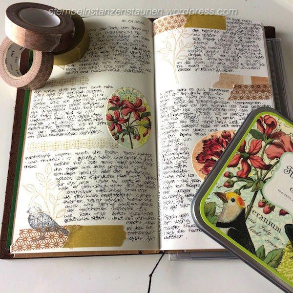 Midori Traveler's Notebook, TNB, Journal, Organizer, Diary, Stampin Up, SU, Berlin, Choose Happiness, Vintage, Vintagestyle, stempeln, stanzen, staunen