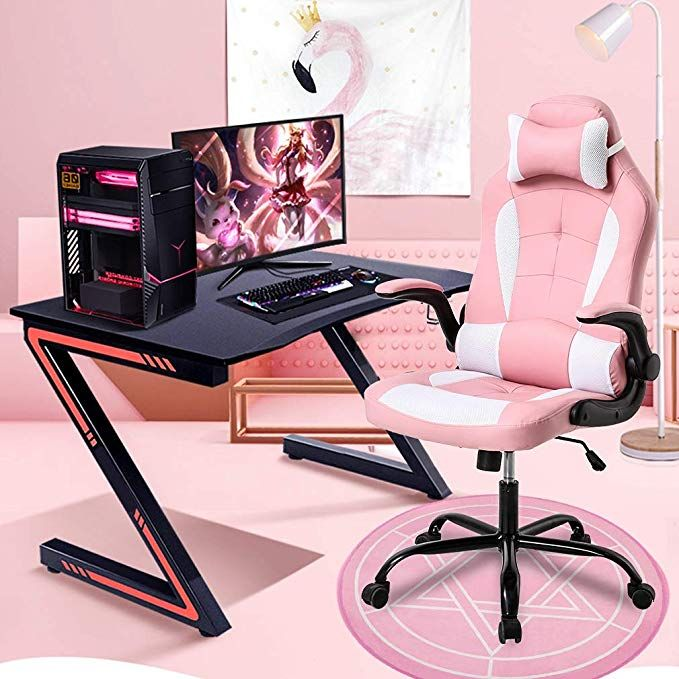 Bestoffice Pc Gaming Chair Ergonomic Office Chair Cheap Desk Chair With Lumbar Support Flip Up Arms H Cheap Desk Chairs Cheap Office Chairs Office Chair Design