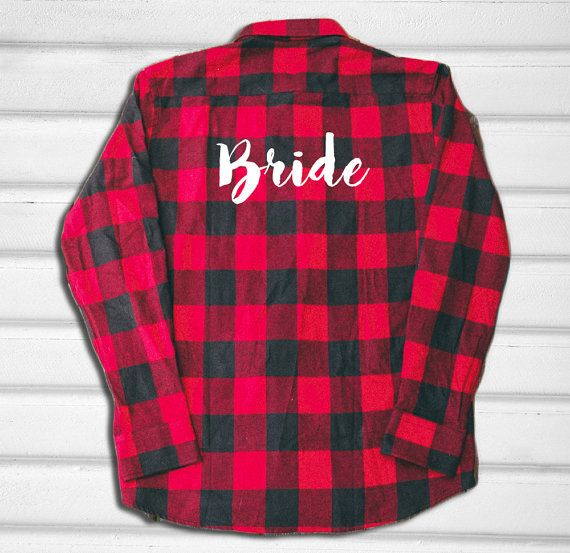 BRIDESMAID FLANNEL with WORDING, personalized wedding party group flannels, bridesmaid gifts, wedding flannel, custom wording flannel
