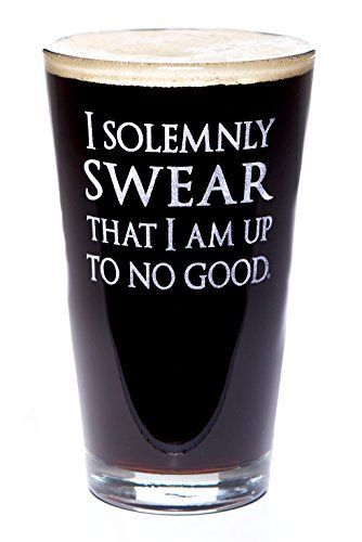 I Solemnly Swear I Am Up To No Good: Harry Potter Inspired Pint Size Beer Glass Alder House Market