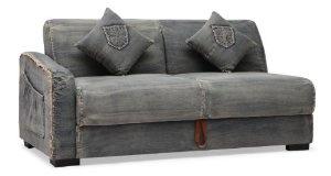 ZUO ERA Brand Sectional Sofa, Blue Denim