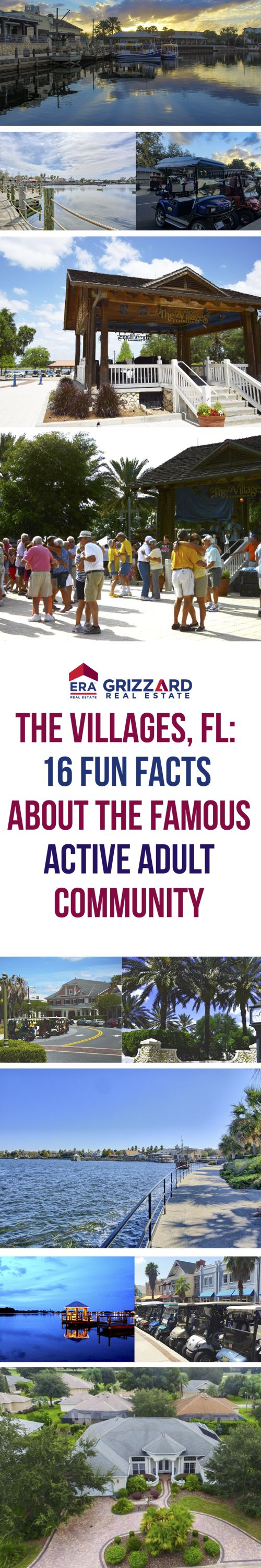 The Villages, Florida is one of the most well known 55 Plus Communities in the world and one of the best places to retire in Florida. The friendly atmosphere, endless activities, and nightly entertainment draws Active Adults from all over to this community.   Here are 16 Surprisingly Fun Facts that may explain why so many people are looking at homes for sale in The Villages, Florida!