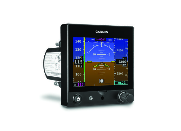 Garmin G5 Electronic Flight Display. The G5 can serve as a primary attitude indicator and turn coordinator, and can also display airspeed, altitude, vertical speed, V speeds and more. You can also link the G5 to a GPS antenna to get GPS-based track and groundspeed information.
