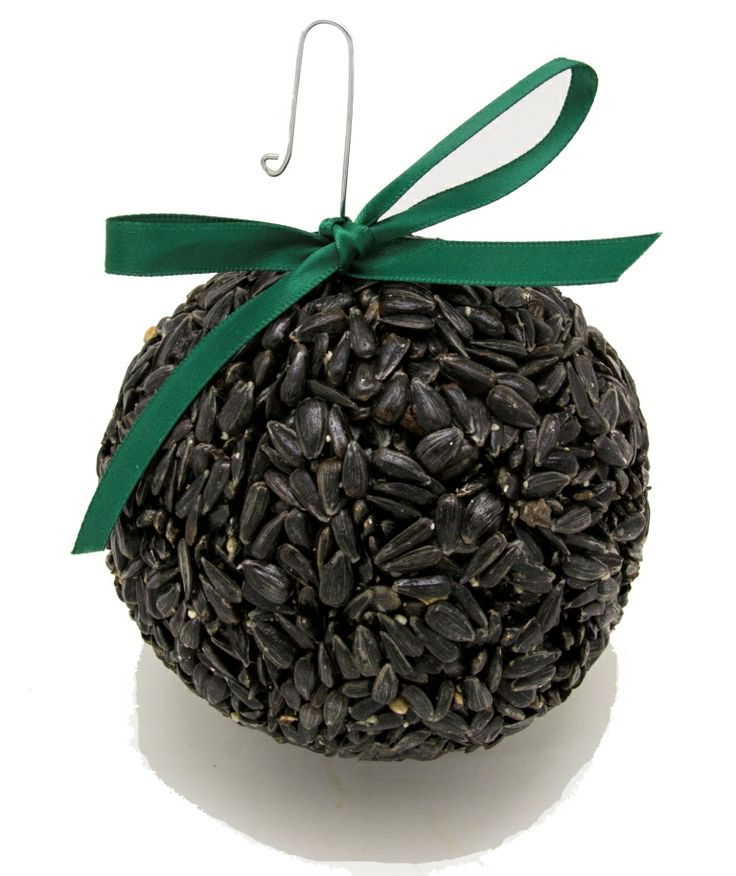 """XB Black Oil Sunflower Globe. Metal Hook for hanging. Comes with decorative ribbon. .55lbs. in weight. Approximately 3.5"""" x 3"""" x 5"""" x 3.5""""."""