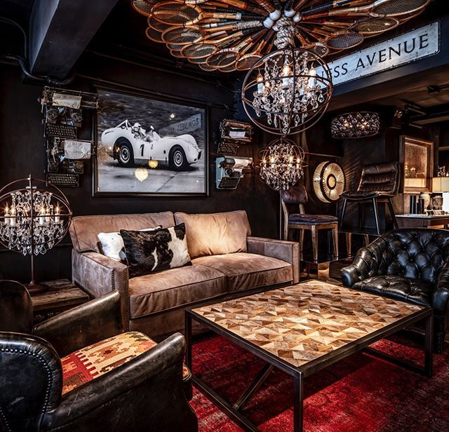 Proof That A Compact Lounge Space Can Still Be Big In Personality Timothyoulton Viscountwilliam Sofa Gyrocrystal Small Room Design Cigar Lounge Cigar Room #small #living #room #bar