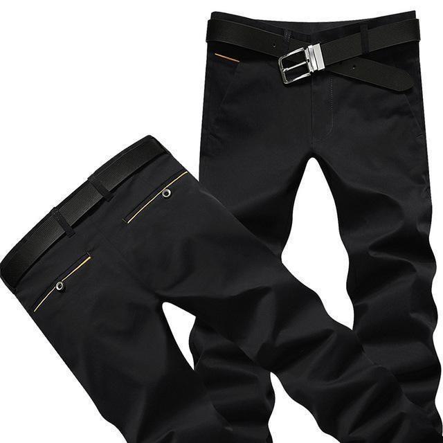 Casual Men's Formal Trousers Men's Pants Black
