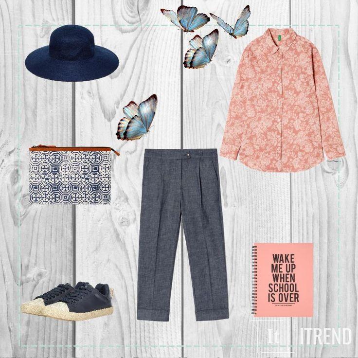 Скомбинировать брюки-кюлоты с блузой в цветочек и кедами - это словно рвануть в отпуск не покидая города :)