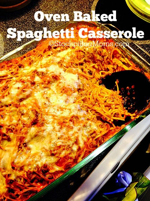 Oven Baked Spaghetti Casserole Recipe The Cottage