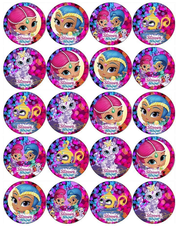 SHIMMER AND SHINE V2 EDIBLE WAFER PAPER TOPPERS CUPCAKES CAKE POPS MUFFINS in Crafts, Cake Decorating   eBay