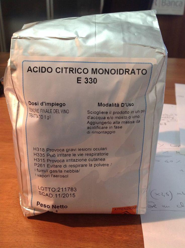 ACIDO CITRICO  1 KG - MONOIDRATO E330   OFFERTA ENOLAB