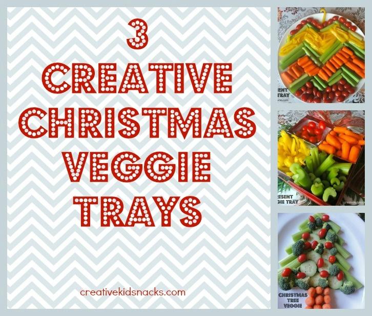 Creative christmas veggie trays fun for the kids to help make