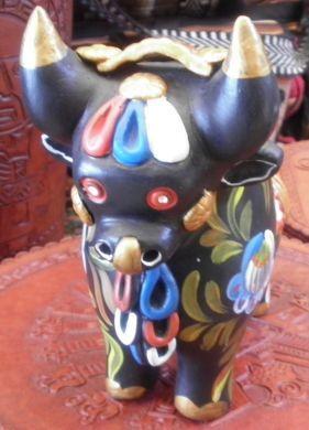 #Peruanischer #Glücksstier, Torito de Pucara aus Ton