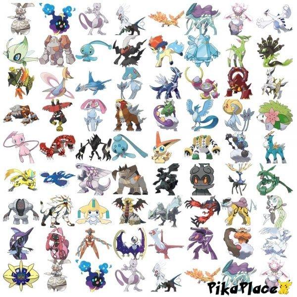 all legendary pokemon names