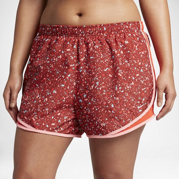 """Nike Dry Tempo (Plus Size) Women's Printed 3"""" Running Shorts. Nike.com ($35) ❤ liked on Polyvore featuring activewear, plus size sportswear, nike activewear, nike, plus size activewear and nike sportswear"""