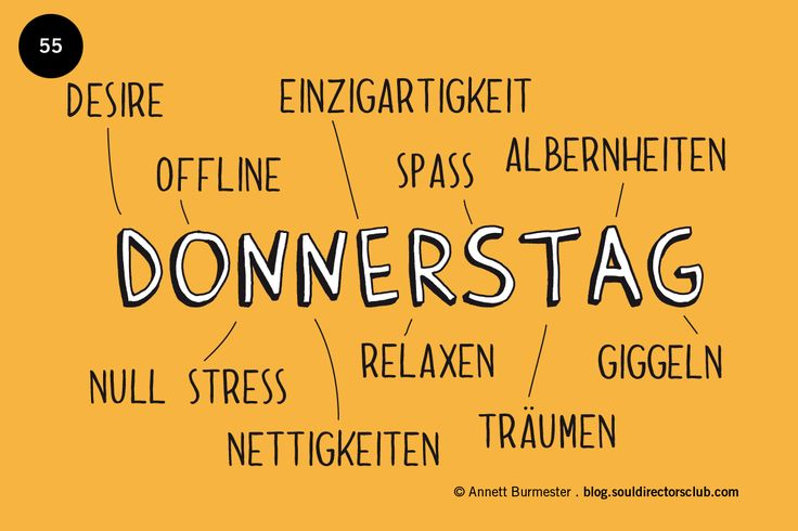 """Happy Donnerstag!"""