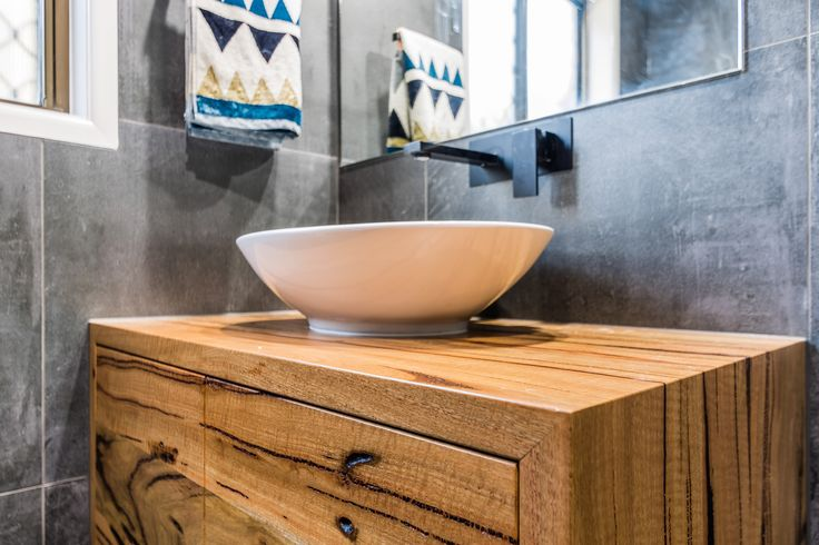 Floating Marri Timber vanity
