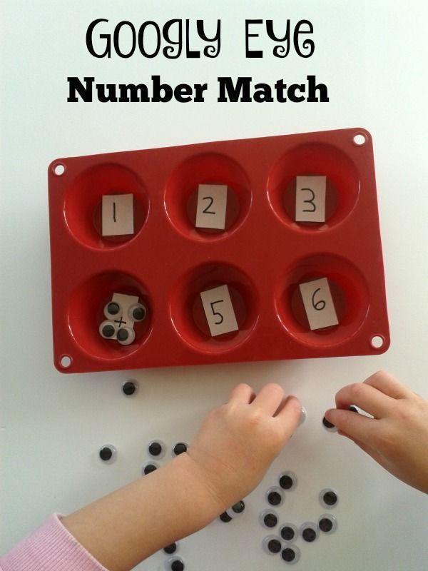 Googly eyes make for a great maths manipulative for preschool aged children. Use them and play this Googly Eye Number Match Game.