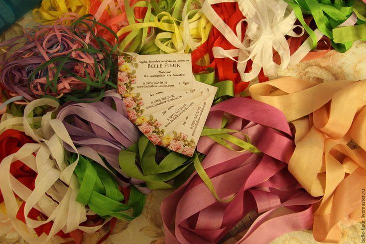 Купить Набор шелковых лент №1 - комбинированный, шелковые ленты, вышивка, стартовый набор, для начинающих