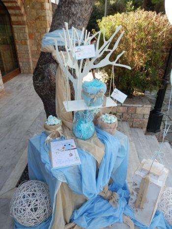 Στολισμος βαπτισης με κουκουβαγια
