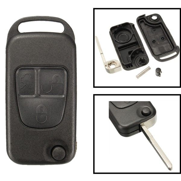Replacement 3 Button Remote Key FOB Shell Case For Mercedes Benz ML C CL S Class