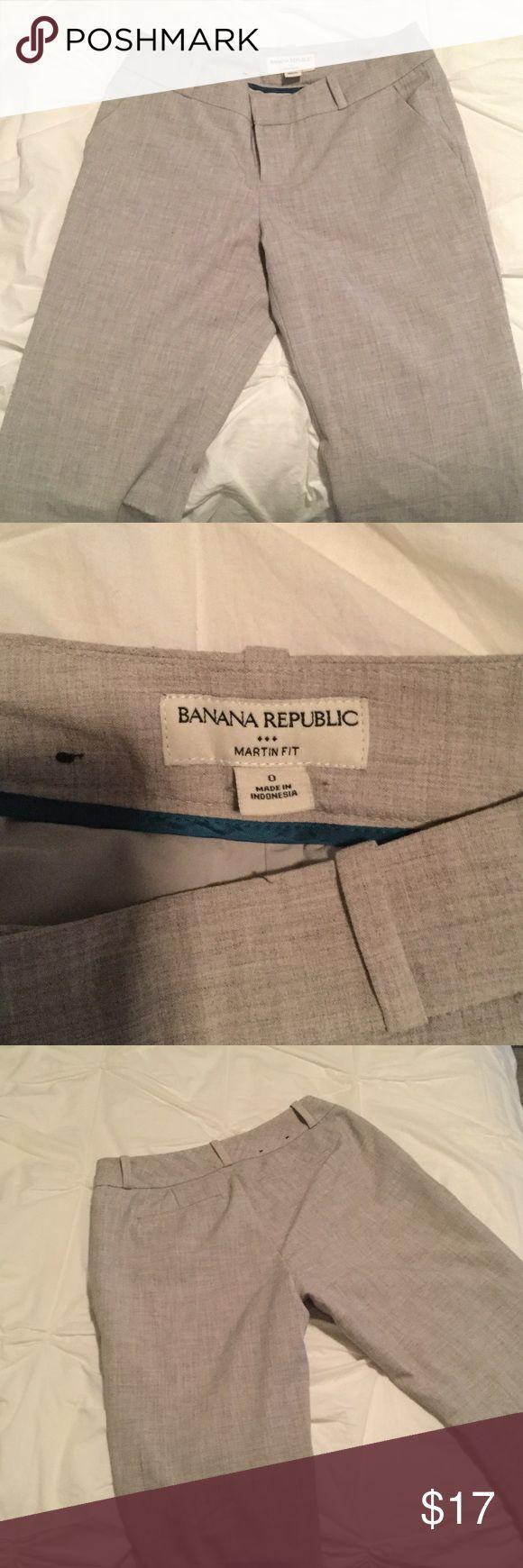 Banana Republic - Martin Fit, 0, grey dress pant Banana Republic - Martin Fit, women's size 0, grey dress pant Banana Republic Pants