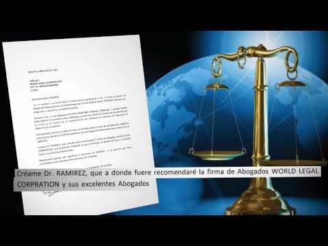 Carta de agradecimiento de un cliente de World Legal Corporation implicado en un caso de extradición - YouTube