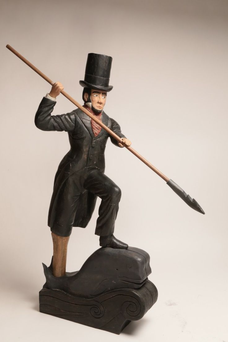 Folk Art - Folk Art Carving of Captain Ahab | Rafael Osona Auctions Nantucket, MA