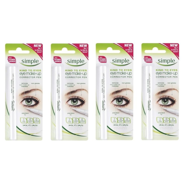 Simple Kind To Eyes Eye Make-up Corrector Pen, Fixes Makeup Mistakes