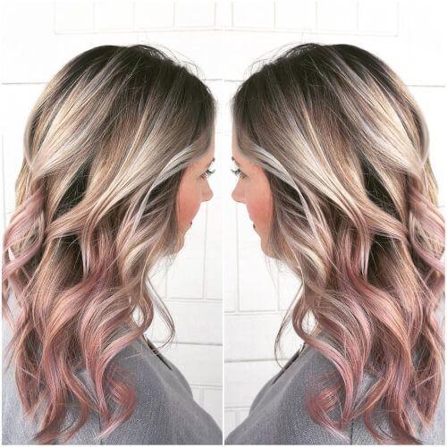 Shattered Root Rose Gold Hair Rose Gold Hair Pinterest