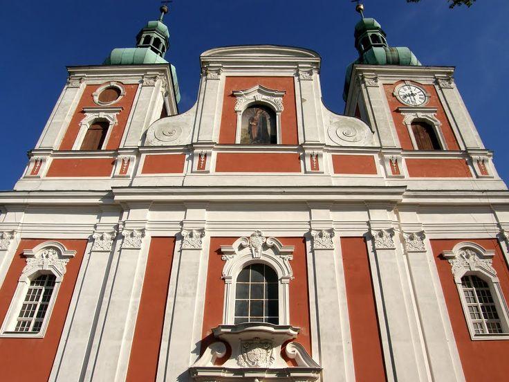 Krnov-Cvilín - průčelí poutního kostela Panny Marie Sedmibolestné (facade of the pilgrimage church of Our Lady of Seven Sorrows), Czech Republic