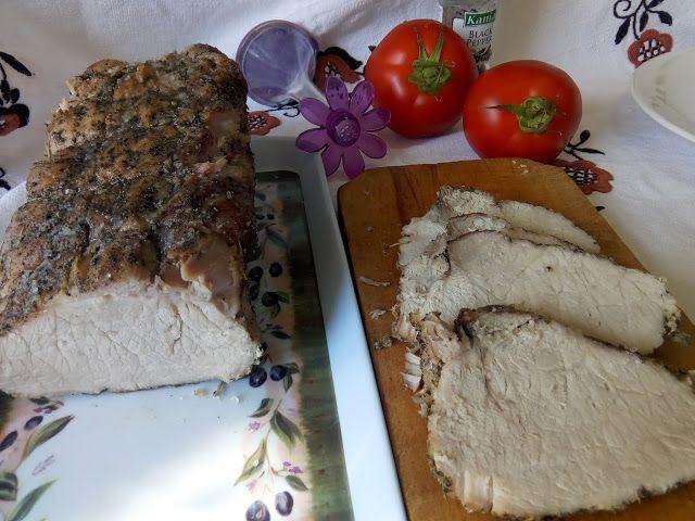 Hellena  ...din bucataria mea...: Cotlet de porc copt in sare