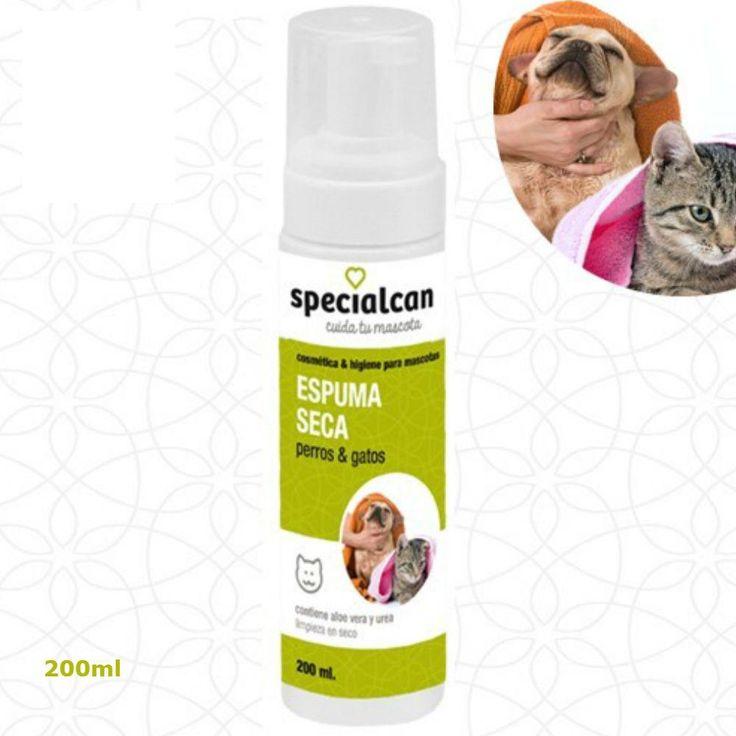 Champú en espuma para lavado en seco Mascotas-  Perros y gatos con Aloe Vera - 200ml