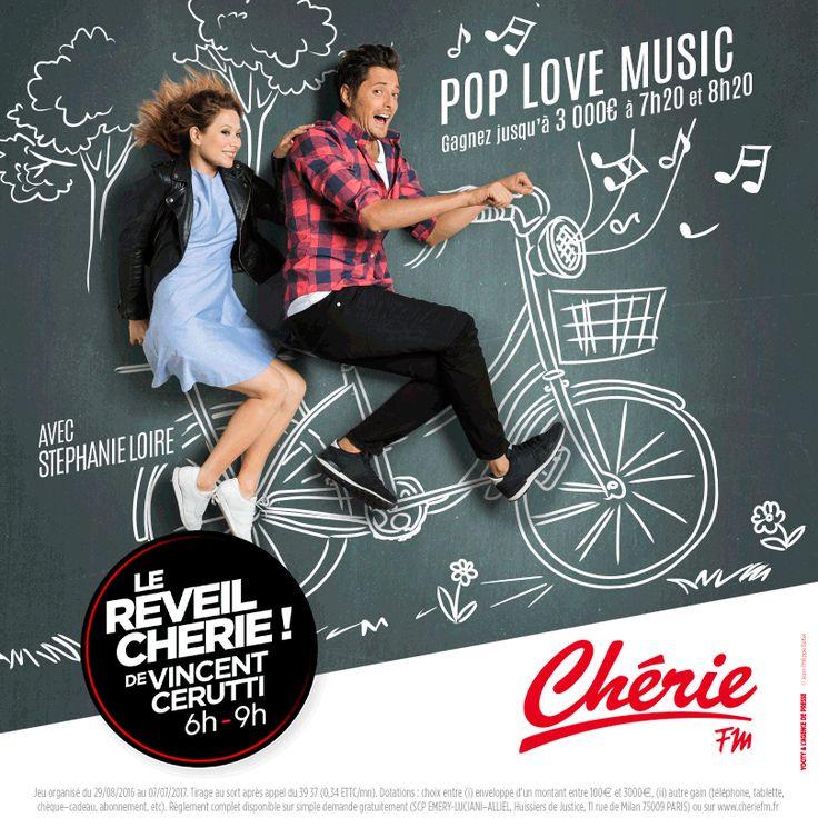 Nouvelle Campagne du Réveil Chérie ! de Vincent Cerutti 6H-9H sur Chérie Fm ! #réveil #vincentcerutti #cheriefm #radio #fm #stephanieloire #tableau #craie #pub #rentree