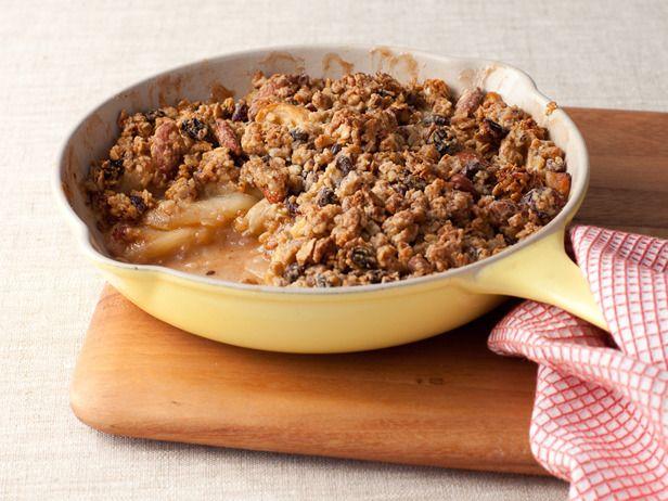 skillet apple-granola crisp: Food Network, Granola Apples Crisp, Granola Apple Crisp, Desserts, Apples Crisp Recipes, Skillets Granola Apples, Apples Recipes, Apple Crisps, Granola Recipes