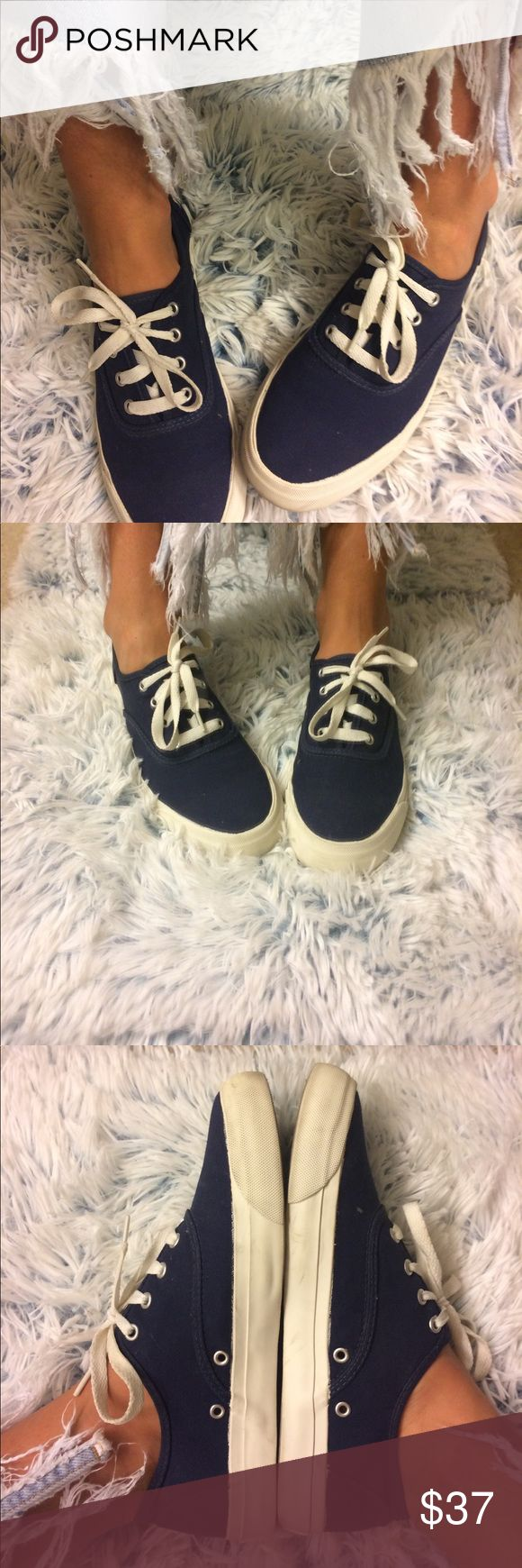 Keds Pro Vintage Style Sneakers Great condition, navy. Super comfortable with the thicker, more stylish sole! Keds Shoes Sneakers