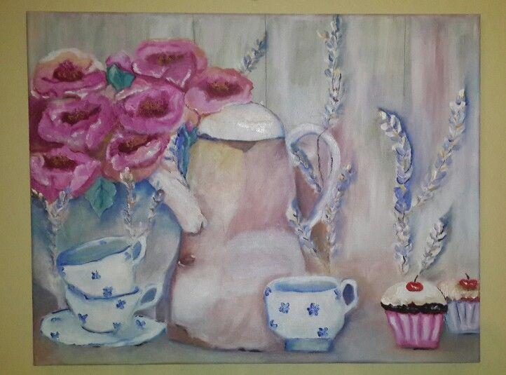 Cupcakes & Mistakes, oil on canvas