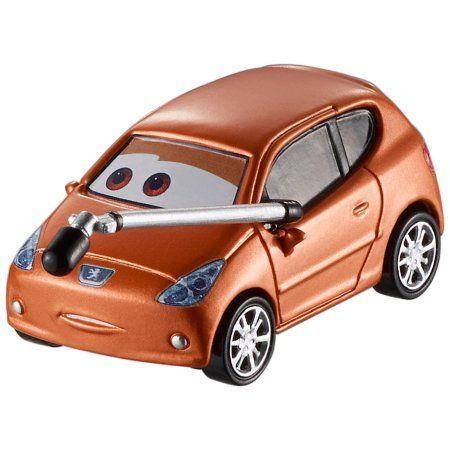 Disney Pixar Cars Die Cast Bronze Peugeot With Microphone