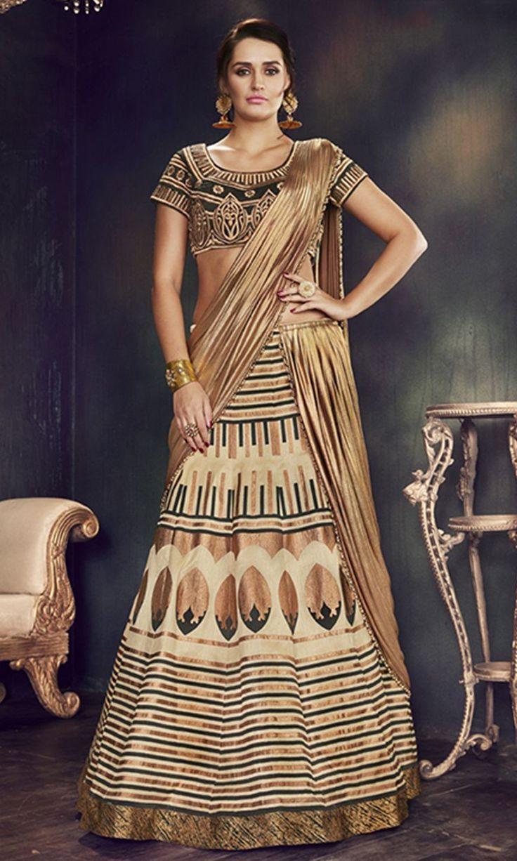 #Black and #Gold Designer Wear #LehengaSaree