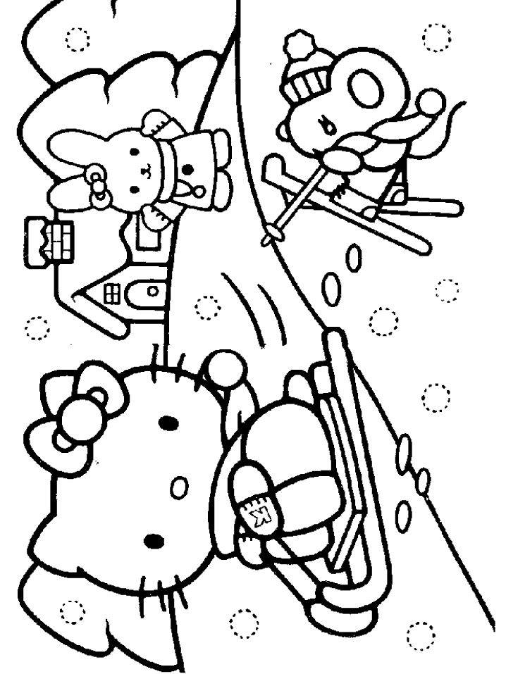 Kitty Coloring Pages Easter Koika Na Kole Hello Picscoloring Pictures
