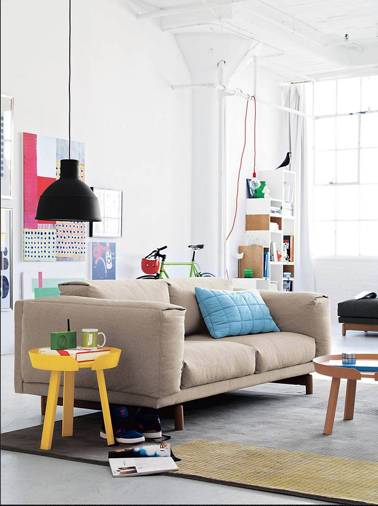 Muuto - Living room Rest sofa, Unfold Lamp Around Coffee table