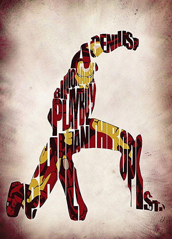 Iron Man Inspired Poster The Avengers Print by GeekMyWalL on Etsy, $25.00