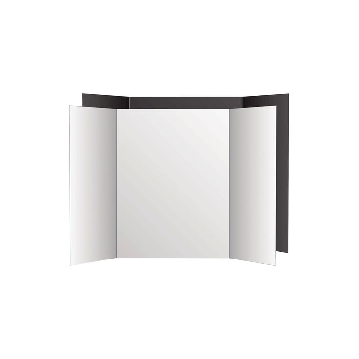 Eco Brites Too Cool Tri-Fold Poster Board - Black/White, White/Black