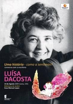 12 de Agosto de 2009  Luísa Dacosta na Biblioteca de Jardim assinala o terceiro aniversário da morte de Manuel Lopes